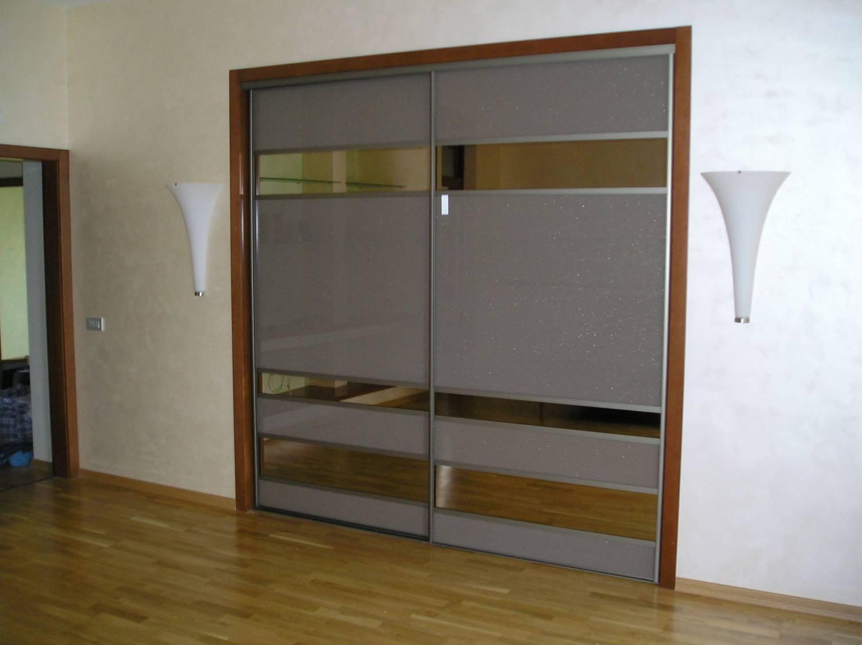 Установка раздвижных дверей в встроенный шкаф купе - установ.